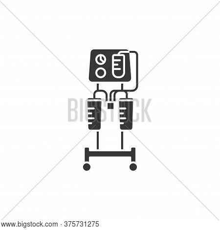 Aspirator Glyph Black Icon. Medical Suction Pump Concept. Removal Of Fluid From Body Cavities. Cavit