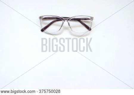 A Pair Of Glasses, Close View, Whit Background