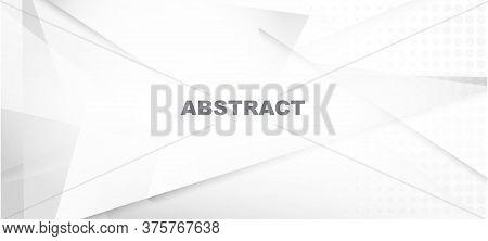 Halftone Minimal Gray Vector Background. Gray White Shadow Page. Halftone Wallpaper. Grain Pattern.