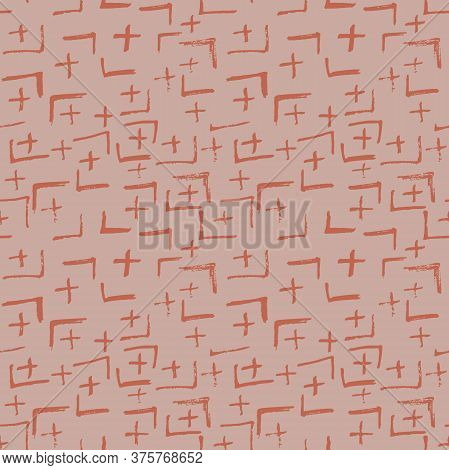 Tie Dye Japanese Geometric Simple Seamless Pattern. Boho Tie Dye Vector Batik. Geo Wabi Sabi Patchwo
