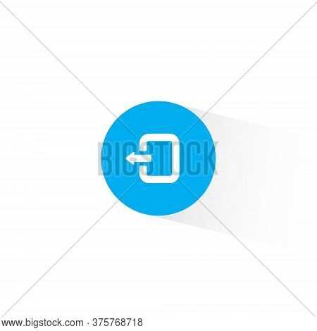 Exit Icon Vector In Trendy Style. Quit, Logout Symbol Illustration