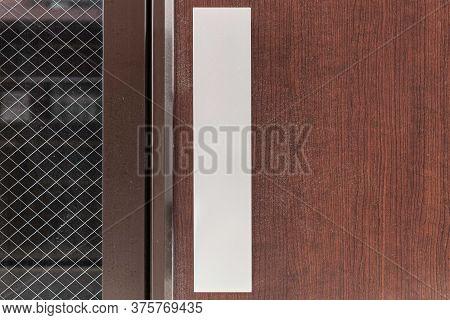 Entrance Door Handle Close Up. Lock And Handle On The Door. Reinforced Door Lock. Doorknob At A Brow
