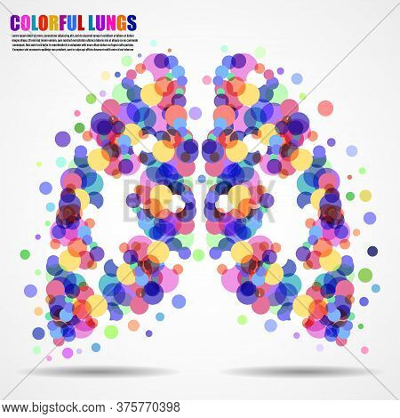 Abstract Human Lungs Of Colorful Circles For Your Design