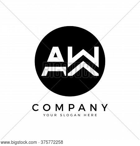 Aw Logo Design Business Typography Vector Template. Creative Linked Letter Aw Logo Template. Aw Font