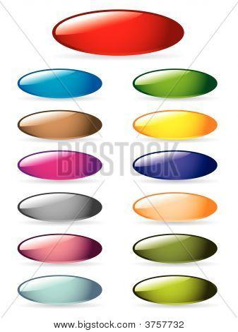Conjunto de botão brilhante