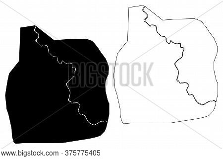 Spanish Town City (jamaica Island) Map Vector Illustration, Scribble Sketch City Of Spanish Town Map