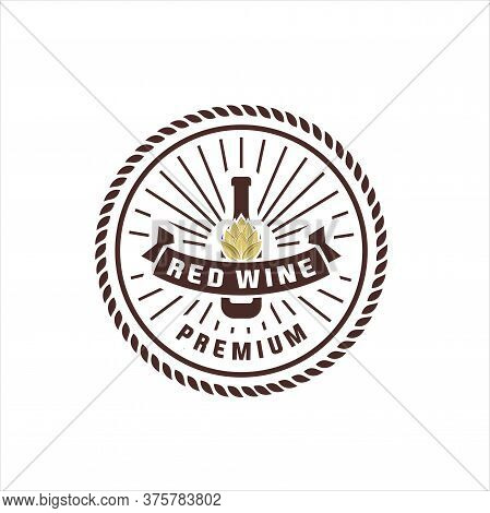 Logos For Its Wine Business. Shop, Wine Cellar, Quality Label, Wine Tasting, Wine List Or Event. Vin