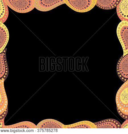 Vector. Decorative Vintage Frames And Borders. Border Design Is Pattern In Doodles Art Style. Seamle