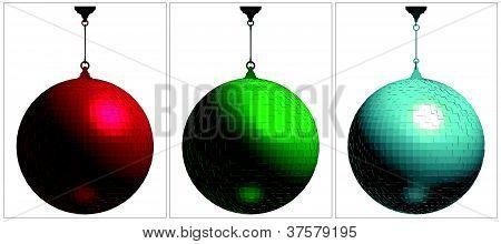 RGB Color Disco Ball Vector