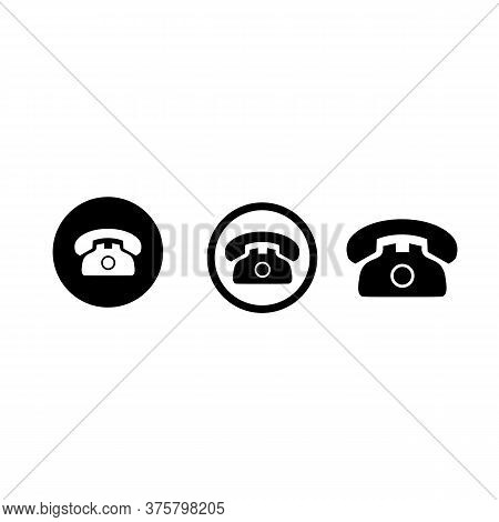 Save\ndownload Preview\nvector Simple Illustration Isolated On White Background - Telephone Set