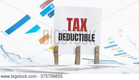 Word Tax Deductible Made With Wood Building Blocks
