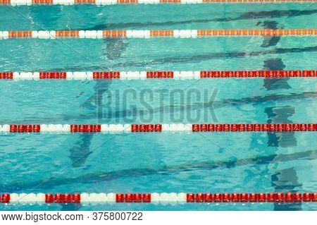 Red And White Swim Lane Lines