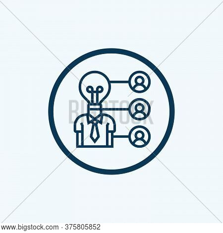 Coordinating People Glyph Icon Vector On White Background. Flat Vector Coordinating People Icon Symb