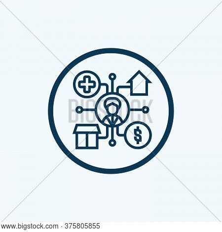 Subsidies Concept Icon. Government Incentive. Financial Support Thin Line Illustration. Social Welfa