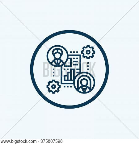 Collaboration Icon In Trendy Design Style. Collaboration Icon Isolated On White Background. Collabor