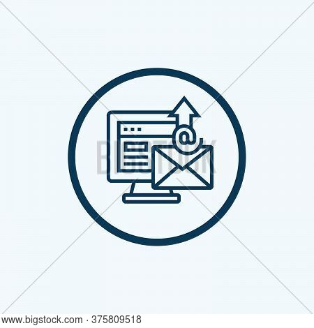 Envelope Icons Letter. Envelop Icon Vector Template. Mail Symbol Element. Mailing Label For Web Or P