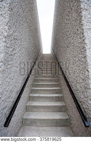 Portrait shot of Empty Stairway