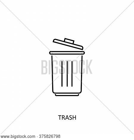 Trash Icon Isolated On White Background From Photography Collection. Trash Icon Trendy And Modern Tr