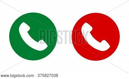 Phone Call Round Icon Isolated On White Background. Phone Call Icon Crircle Shape In Trendy Design S