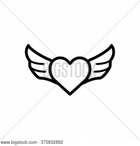 Heart Signage Icon Flat Vector Template Design Trendy