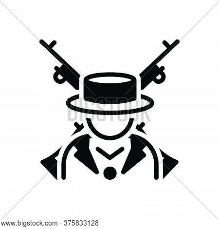 Black Solid Icon For Orion Terrorist Gun Extremist Rebel Radical Malcontent