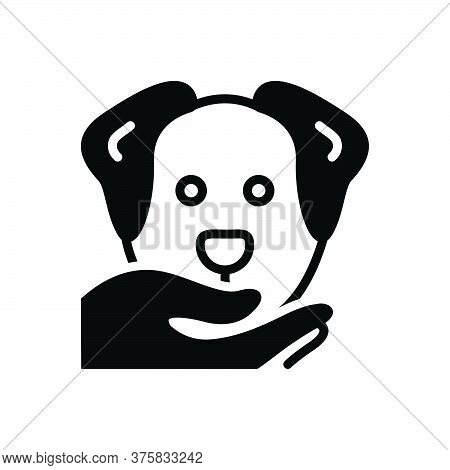 Black Solid Icon For Obedient Compliant Dutiful Cooperative Adorable