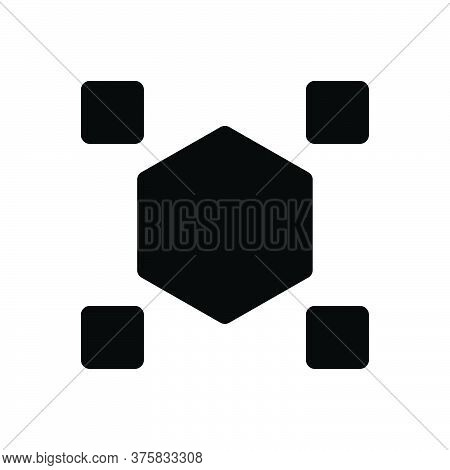 Black Solid Icon For Odds Difference Distinction Spacing Distance Strange Weird Unusual Disparity