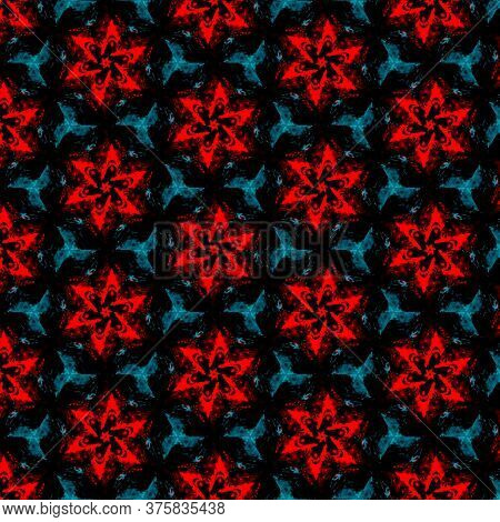 Abstract Colorful Star Design Geometric Seamless Pattern Background. Colored Star Unique Logo. Seaml