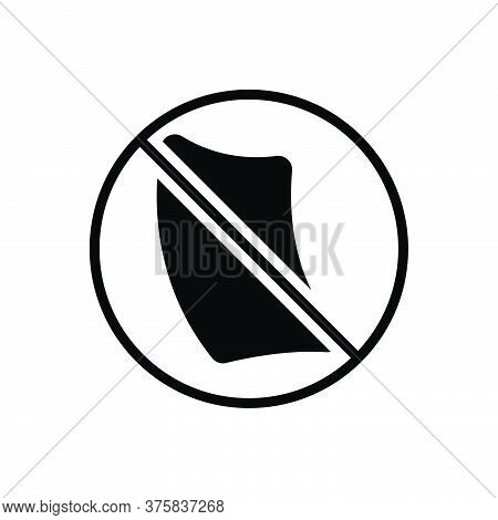 Black Solid Icon For Paperless Cancel Invalidation Defeasance Automatic Bureaucracy Paperfree