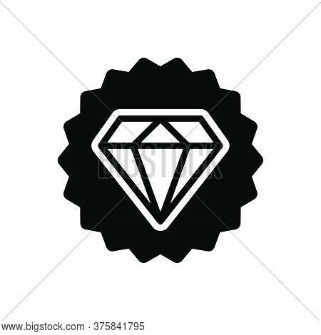 Black Solid Icon For Premium-quality Pawnshop Diamond Jewellery Ornament Accuracy Shining Guarantee