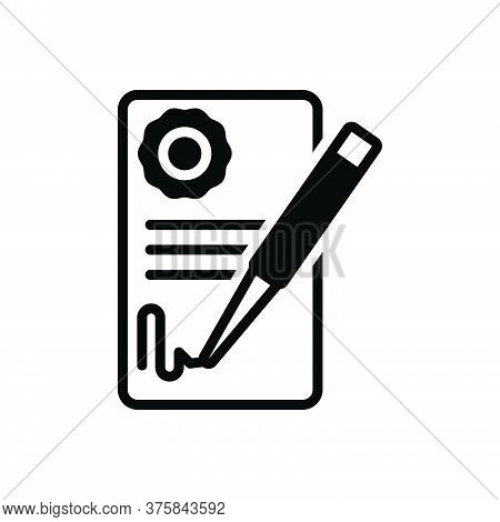 Black Solid Icon For Deal-agreement Deal Agreement Agreement Signature Feedback Registration Legaliz