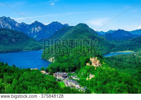 Hohenschwangau Castle In The Bavarian Alps, Germany