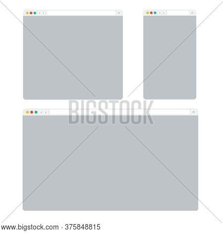Web Browser Window. Web Browser Computer Background Vector