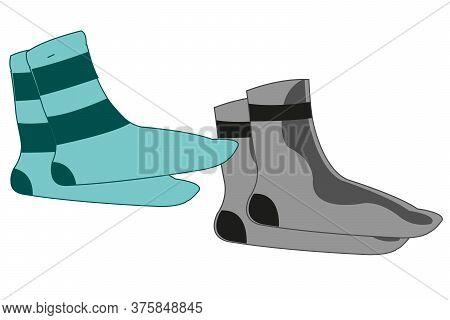 Vector Illustration Garment Socks Of The Varied Colour