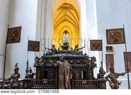 Munich. Germany - July 26, 2018: The Cenotaph Of The Kaiser Ludwig In The  Cathedral Of Our Lady ( A
