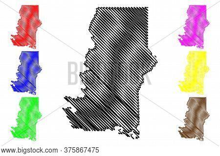 Murray County, Georgia (u.s. County, United States Of America,usa, U.s., Us) Map Vector Illustration