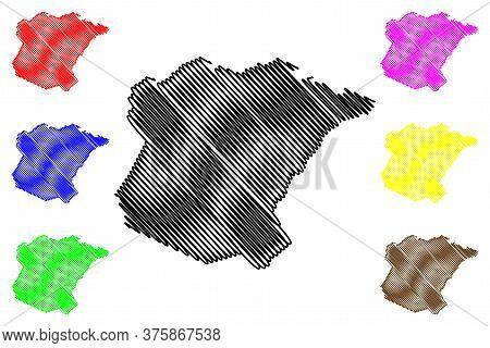 Oglethorpe County, Georgia (u.s. County, United States Of America,usa, U.s., Us) Map Vector Illustra