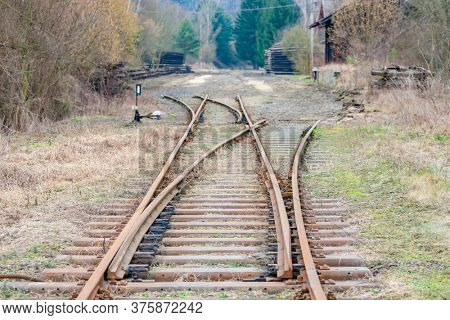 liquidation of old tracks on the canceled Railway Line, Czech Republic