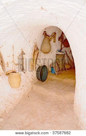 Troglodyte house in the Sahara desert of Africa