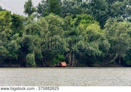 Sava River Near Obedska Pond (obedska Bara) Large Swamp And Forest Area And Special Nature Reserve A