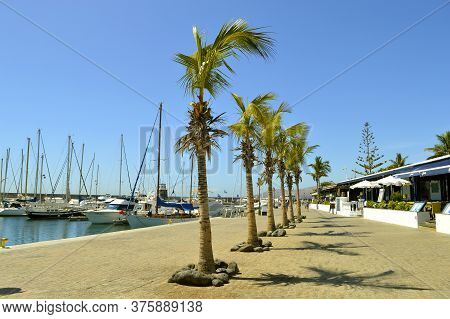 Puerto Calero, Lanzarote, Canary Islands, Spain - September 14, 2019 : Boats And Yachts In Puerto Ca