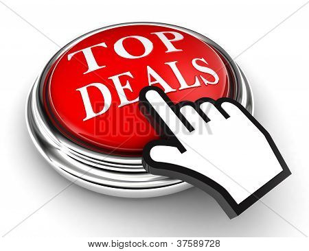 Top Deals Red Button And Pointer Hand