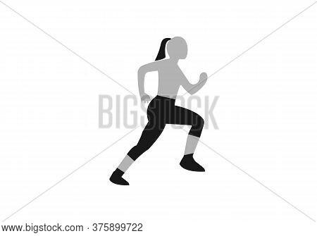 Running Woman Silhouette Logo Designs Vector, Marathon Logo Template, Running Club Or Sports Clu