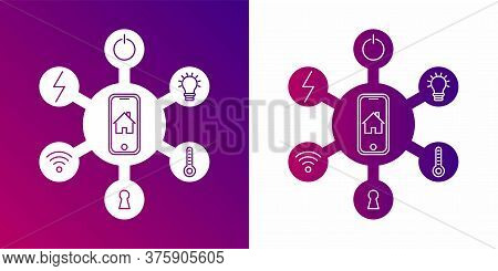 Smart Home Iot Internet Of Things Control Comfort And Security Isometric Flowchart Icon Poster Abstr
