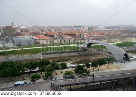 Madrid Río Is A Narrow Strip Of Land Of Variable Width That Follows The Manzanares River Linearly Fo