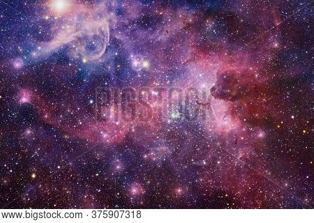 Endless Universe With Stars And Galaxies In Outer Space. Cosmos Art. Elements Of This Image Furnishe