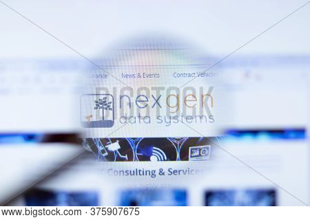 Moscow, Russia - 1 June 2020: Nexgen Data Systems Inc Website With Logo , Illustrative Editorial.