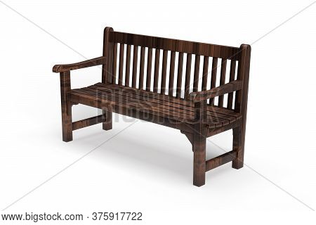 Park Bench Isolated On White Background - 3d Render