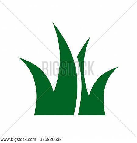 Grass Vector Icon On White Background. Flat Vector Grass Icon Symbol Sign From Modern Autumn Collect