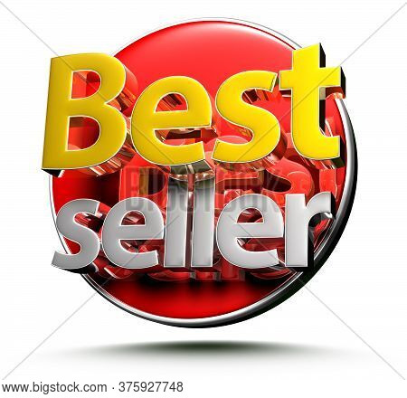 3d Illustration Best Seller Isolated On A White Background.(with Clipping Path)